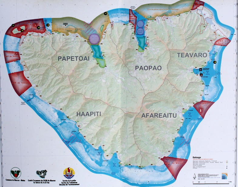 Plan de gestion de l'espace maritime de Moorea