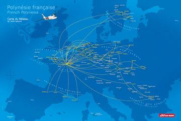 Réseau de transport aérien en Polynésie française
