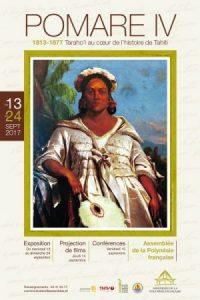 Brochure de présentation de l'exposition Pomare IV 1813-1877